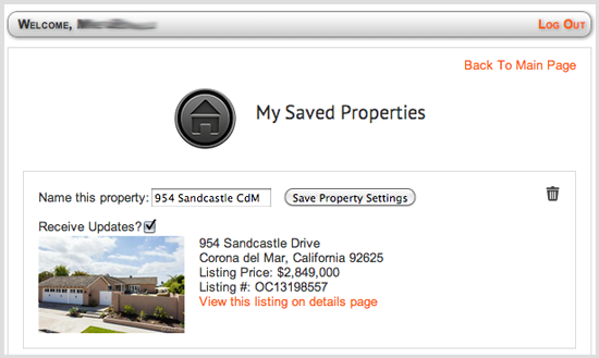 Saved Property