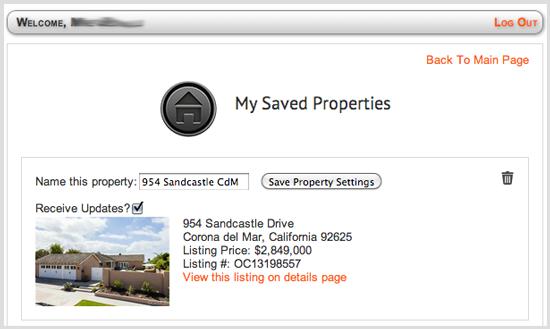 Saved Property
